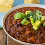 Sweet Potato Black Bean Chili- A delicious and easy vegan chili full of nutrients and flavor.