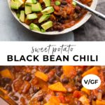pinterest collage of chili with text