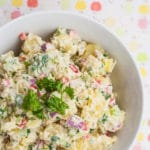 Creamy, oil-free vegan Potato Salad. Perfect for spring and summer barbecues!