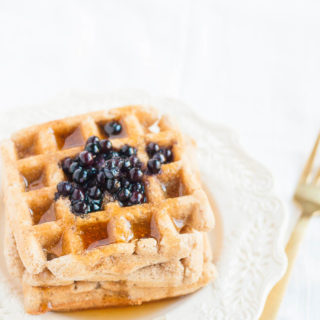 Gluten-free Oil-free Vegan Waffles