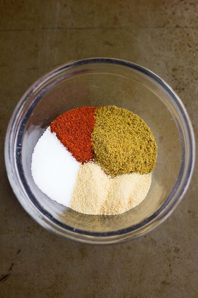 spice mix in a small glass bowl