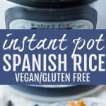 pinterest image of instant pot spanish rice