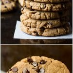 pinterest collage of oil free peanut butter chocolate chip cookies