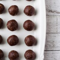 Date Sweetened Raw Chocolate Bites; vegan, gluten-free and oil-free.