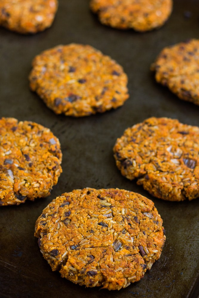 Sweet and smoky sweet potato black bean burgers made with whole food ingredients.