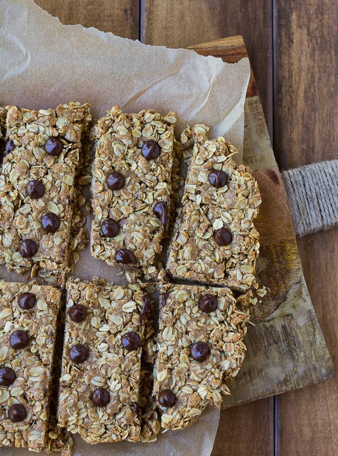 Peanut Butter Oat Snack Bars- Dairy free, healthy snack for kids (and adults!)