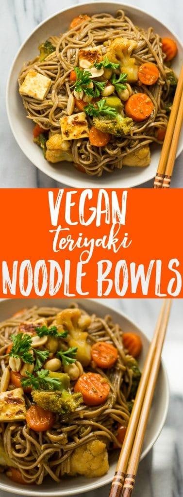 Teriyaki Noodle Bowls | Nora Cooks