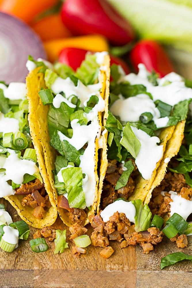 close up of cauliflower tacos
