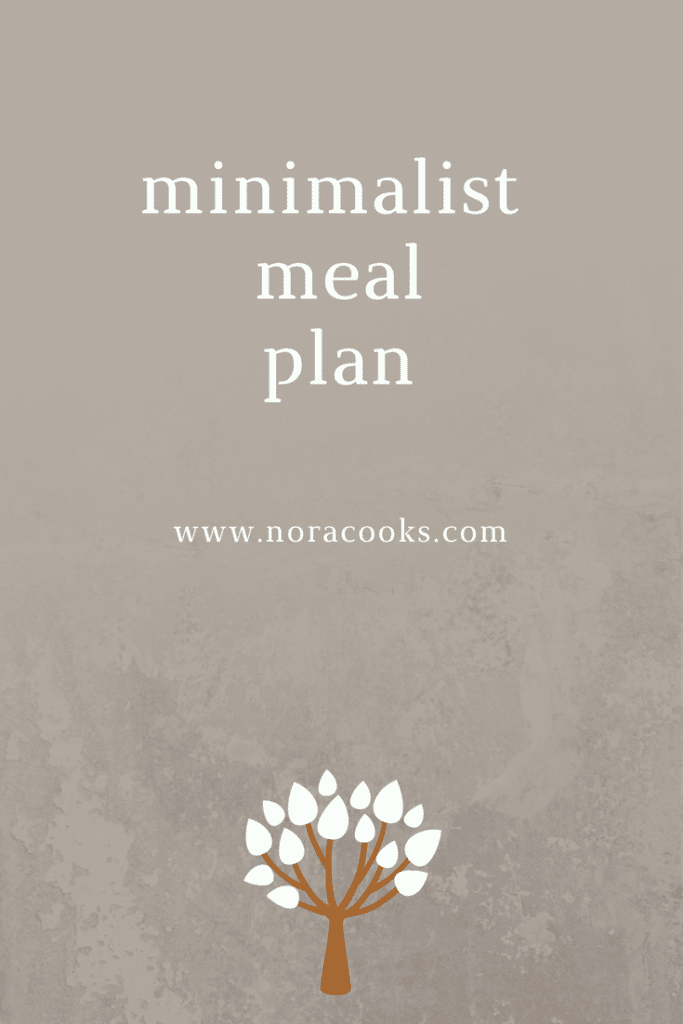 a plant based minimalist meal plan