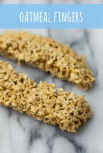 oatmeal fingers with banana and oats