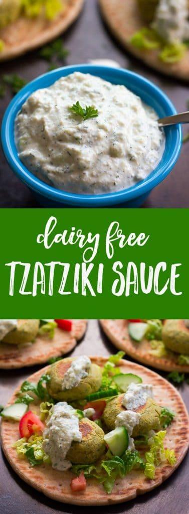 Dairy Free Tzatziki Sauce: Made with tofu. Oil-free!