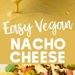 pinterest collage vegan nacho cheese sauce