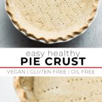 pinterest collage of pie crust with text