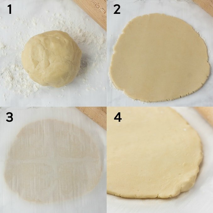 collage of vegan sugar cookies process