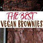 vegan brownies pin image