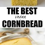 pinterest collage of best vegan cornbread