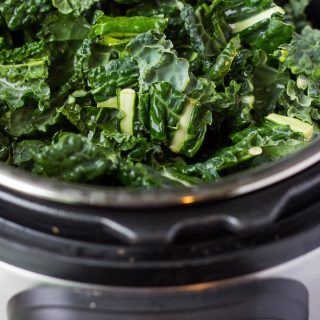 raw chopped kale in instant pot