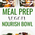 pinterest collage vegan meal prep