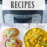25 Vegetarian Instant Pot Recipes, pinterest collage