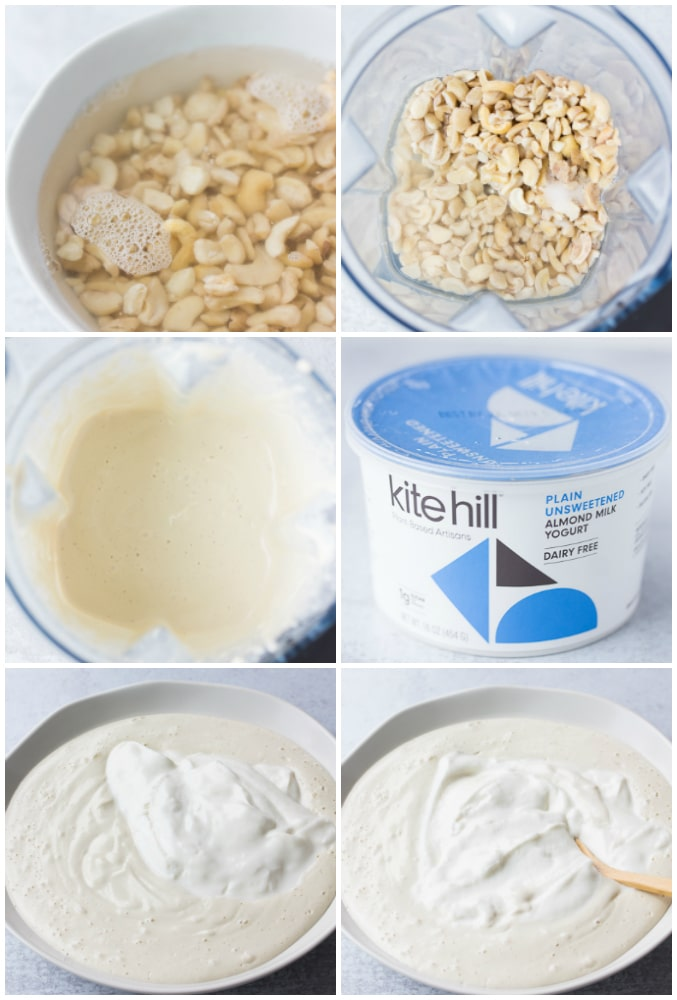 collage of how to make vegan sour cream