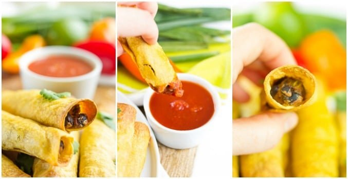 collage of taquitos, various shots