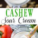 Cashew Sour Cream pinterest collage