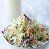vegan coleslaw in a bowl