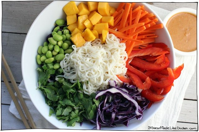 rainbow noodle bowl