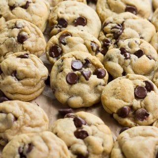 lots of vegan chocolate chip cookies