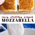 Pinterest collage of mozzarella cheese with text
