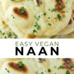 pinterest collage of naan with text