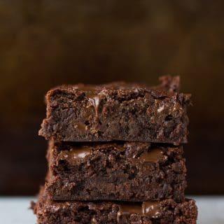 3 stacked vegan brownies recipe