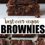 pinterest collage of vegan brownies recipe