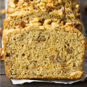 square image of vegan banana bread