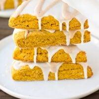 stack of vegan pumpkin scones