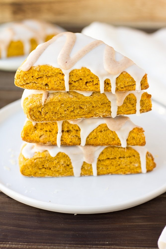 stack of vegan pumpkin scones