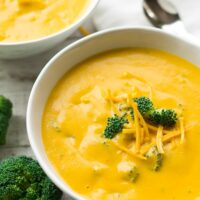 vegan broccoli cheese soup- 2 bowls of it