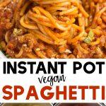 pinterest collage instant pot spaghetti