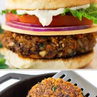 pinterest collage of veggie burger recipe