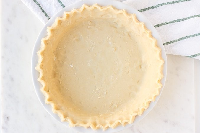 vegan pie crust in pie pan