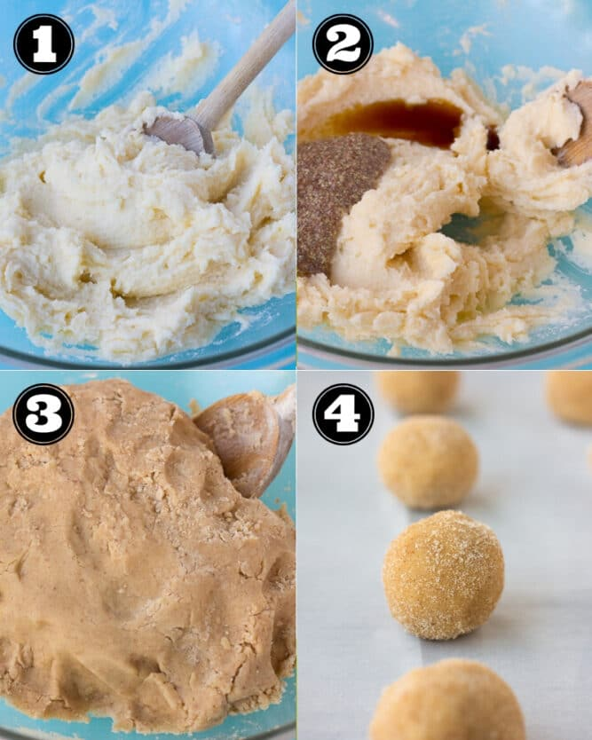 collage of how to make cookies step by step