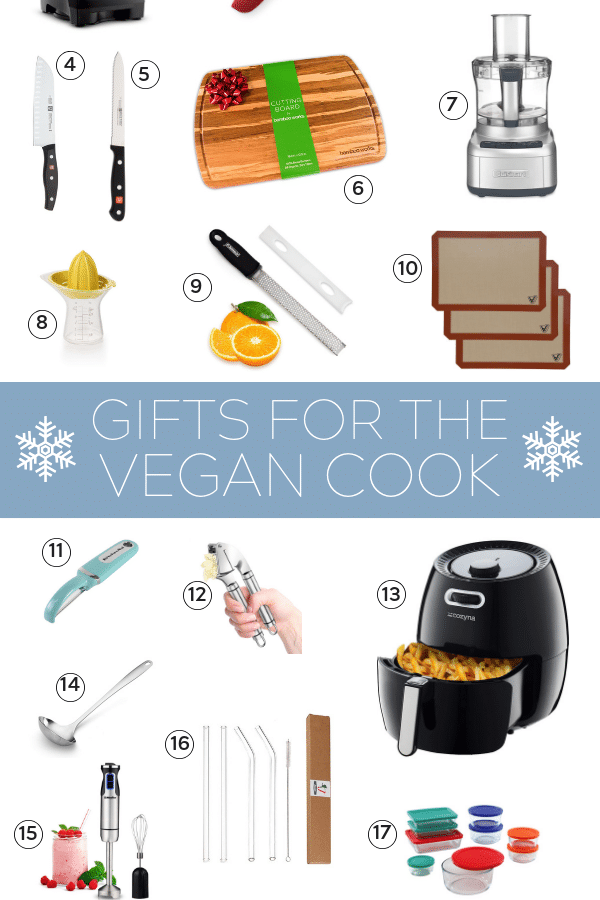 holiday gift guide for the vegan pinterest collage