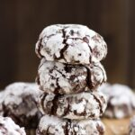 Vegan Chocolate Crinkle Cookies