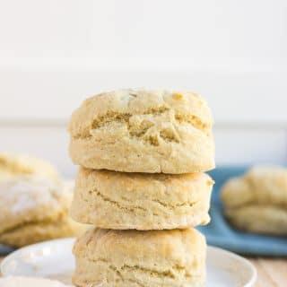 stack of easy vegan biscuits