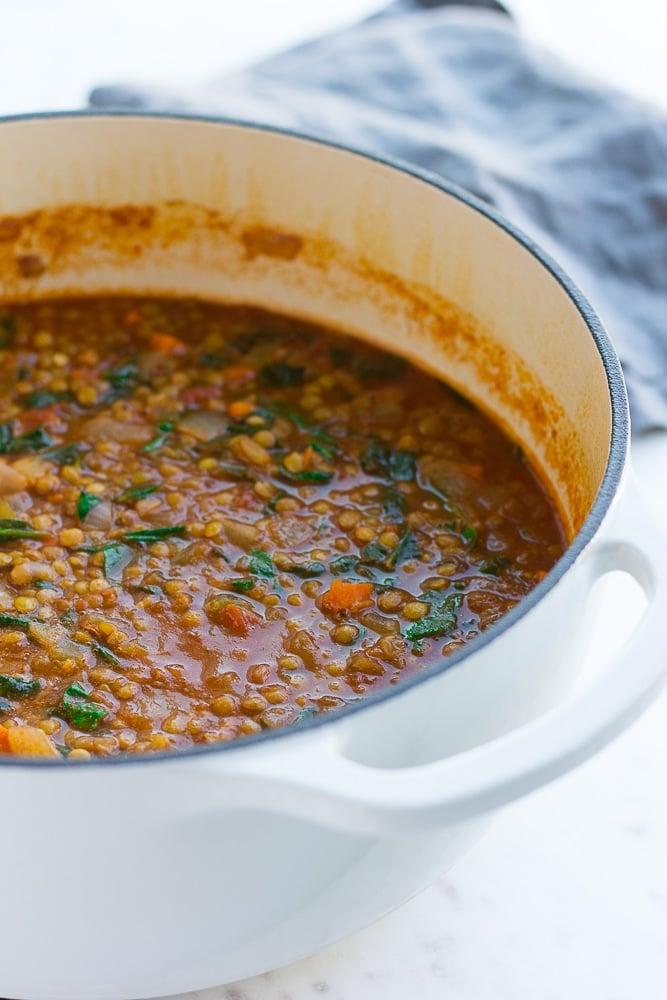 Everyday Vegan Lentil Soup - Nora Cooks