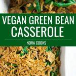 pinterest collage vegan green bean casserole
