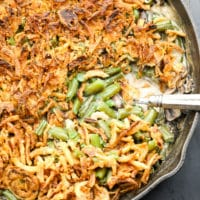 square image of green bean casserole