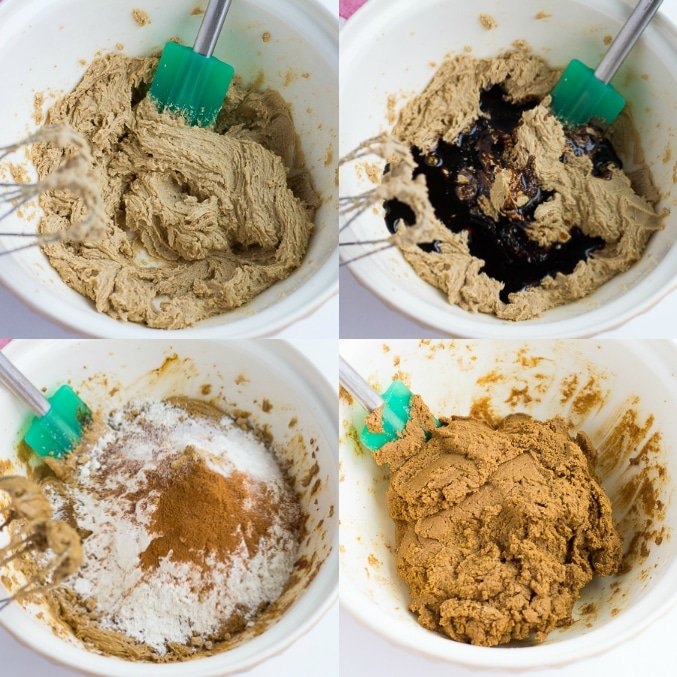 collage of how to make vegan ginger cookies