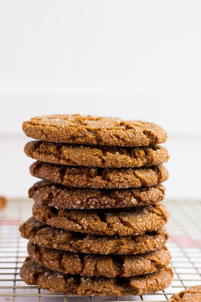 stack of vegan ginger cookies