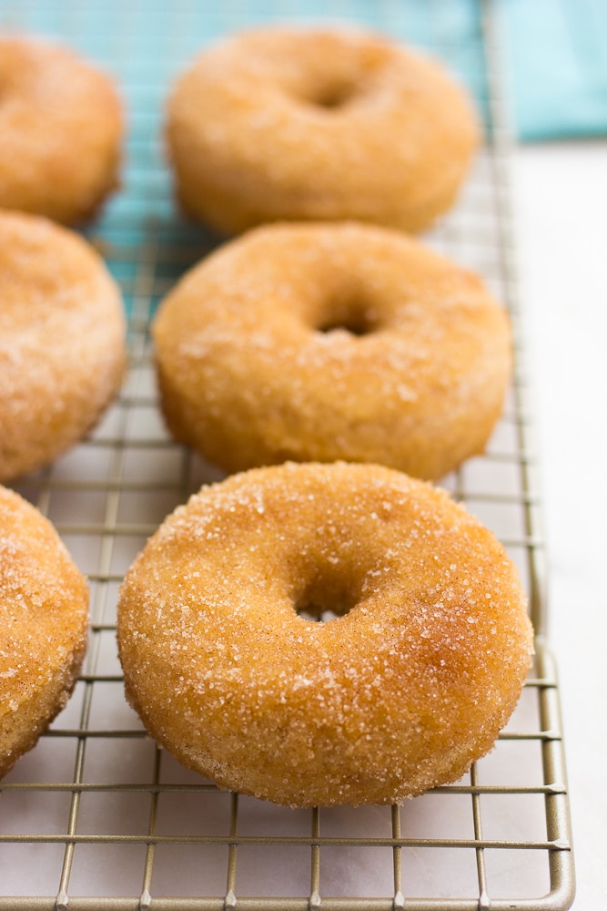 vegan donuts on a cooling sheet
